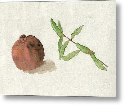 Pomegranate  Metal Print by Annemeet Hasidi- van der Leij