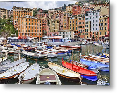 Port Of Camogli Metal Print by Joana Kruse