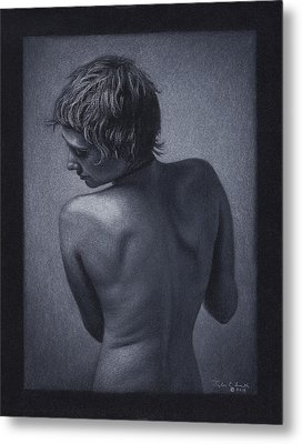 Posterior Nude Metal Print by Tyler Smith