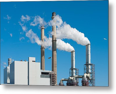 Metal Print featuring the photograph Power Plant by Hans Engbers