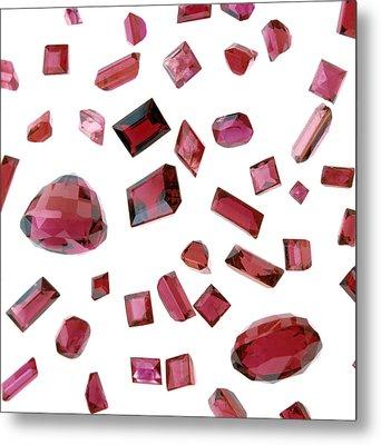 Precious Gemstones Metal Print by Lawrence Lawry