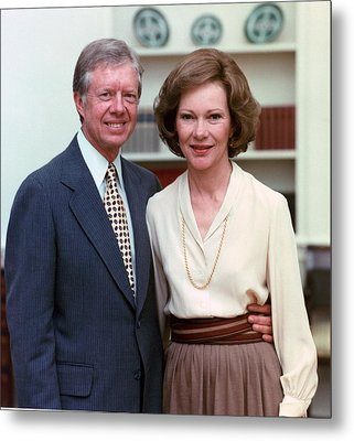 President Jimmy Carter And Rosalynn Metal Print by Everett