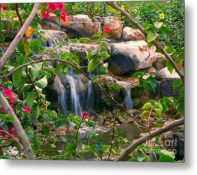 Pretty Garden View Metal Print by Yali Shi