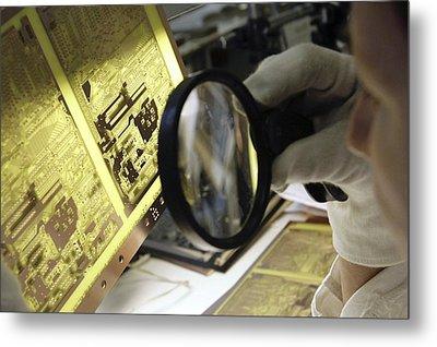 Printed Circuit Board Production Metal Print by Ria Novosti