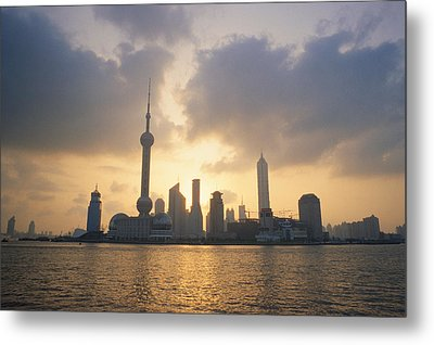 Pudong Skyline, Seen Metal Print by Justin Guariglia