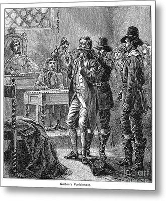Puritan Punishment Metal Print by Granger