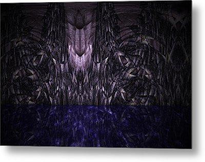 Purple Caverns Metal Print by Christopher Gaston