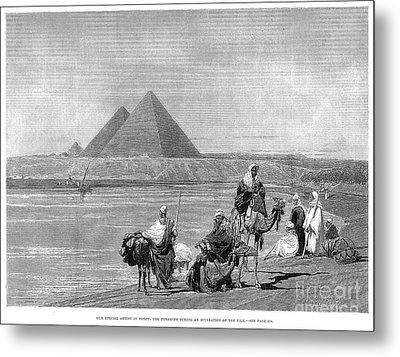Pyramids At Giza, 1882 Metal Print by Granger