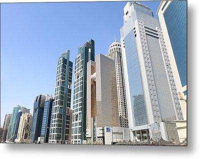 Qatars Financial Front Line Metal Print by Paul Cowan