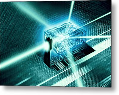 Quantum Computer Core Metal Print by Richard Kail