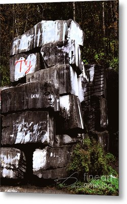 Quarry Face Metal Print by Danuta Bennett
