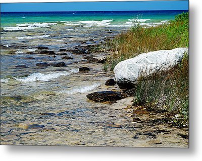 Quiet Waves Along The Shore Metal Print