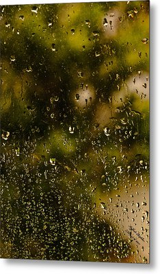 Metal Print featuring the photograph Rain Drops On My Window by Itzhak Richter