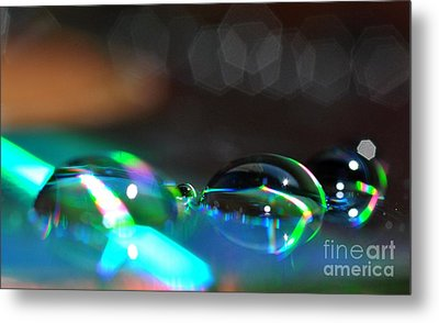 Metal Print featuring the photograph Rainbow Drops by Sylvie Leandre