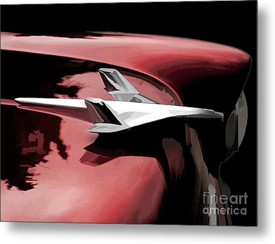 Red Chevy Jet Metal Print