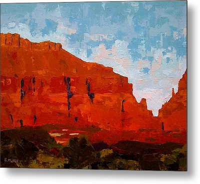 Red Cliffs Metal Print