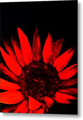 Metal Print featuring the painting Red Flower by Monica Furlow