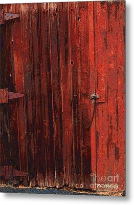 Red Shed Metal Print by RC DeWinter