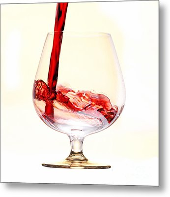 Red Wine Metal Print by Michal Boubin