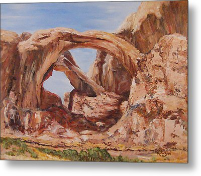 Metal Print featuring the painting Refuge by George Richardson