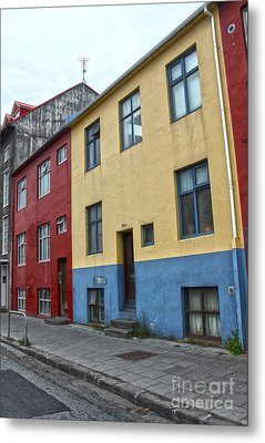 Reykjavik Iceland - Colorful House Metal Print by Gregory Dyer