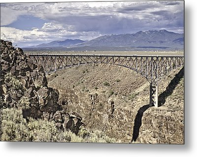 Rio Grande Gorge Bridge Metal Print by Melany Sarafis