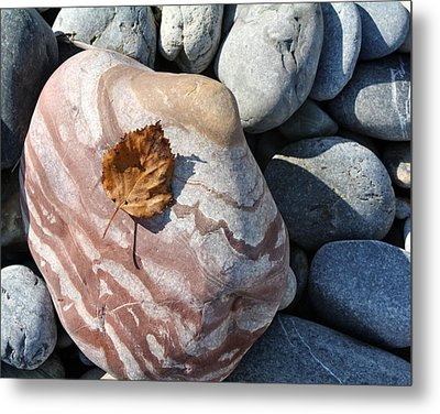 River Rocks Mountain Stream Metal Print