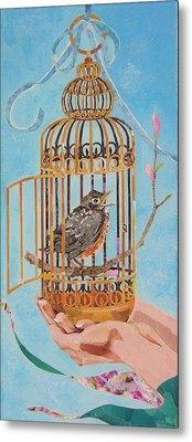 Robin Bird Metal Print by Robin Birrell