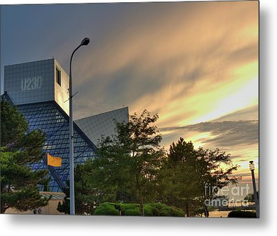 Rock And Roll Hall Of Fame Metal Print by David Bearden