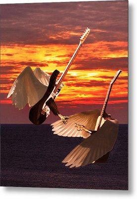 Rock Guitar Edge Metal Print by Eric Kempson