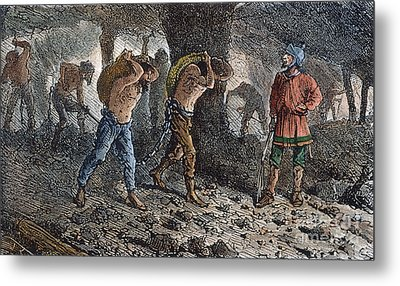 Roman Slavery: Coal Mine Metal Print by Granger