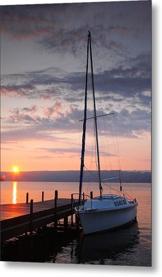 Sailboat And Lake II Metal Print by Steven Ainsworth