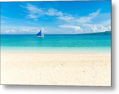 Metal Print featuring the photograph Sailing Boat by Hans Engbers