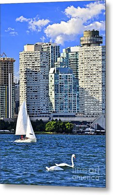 Sailing In Toronto Harbor Metal Print by Elena Elisseeva