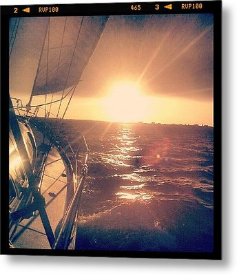 Sailing Sunset Metal Print by Dustin K Ryan