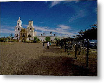 Metal Print featuring the photograph San Xavier Del Bac Mission by Tom Singleton