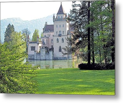Metal Print featuring the photograph Schloss Anif by Joseph Hendrix