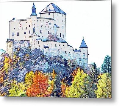Schloss Tarasp Switzerland Metal Print by Joseph Hendrix