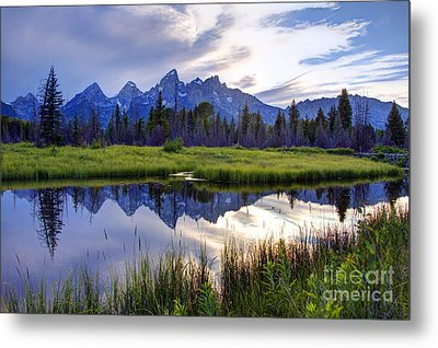 Schwabacher Landing - Grand Teton National Park Metal Print by Gary Whitton