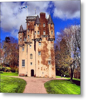 Scottish Castle Metal Print by Luisa Azzolini
