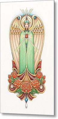 Scroll Angel - Roselind Metal Print by Amy S Turner