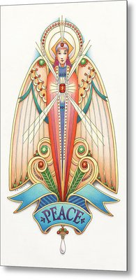Scroll Angels - Pax Metal Print by Amy S Turner