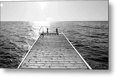 Sea Jetty Metal Print by Smallfort Photography Collection