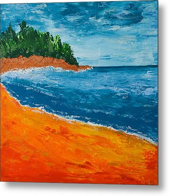 Metal Print featuring the painting Seascape by Judi Goodwin