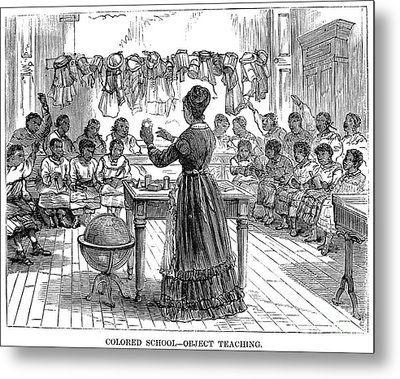 Segregated School, 1870 Metal Print by Granger
