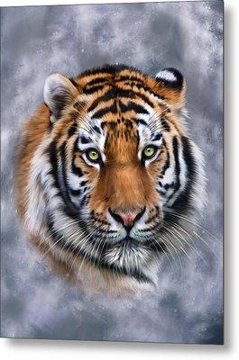 Siberian Tiger Metal Print by Julie L Hoddinott