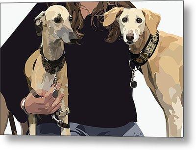 Sighthounds II Metal Print by Kris Hackleman