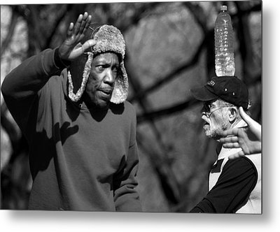 Skaters In Central Park Metal Print by RicardMN Photography