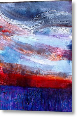Metal Print featuring the mixed media Sunset Sky by Walter Fahmy