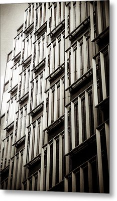 Slatted Window Architecture Metal Print by Lenny Carter